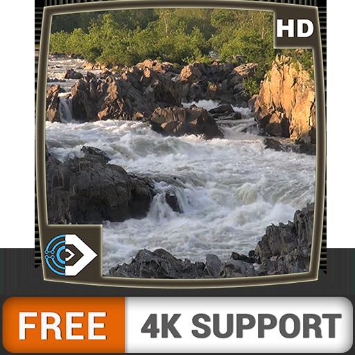 Cascada de montaña HD gratis: disfrute del hermoso paisaje en su TV HDR 4K, TV 8K y dispositivos de fuego como fondo de pantalla, decoración para las vacaciones de Navidad, tema de mediación y paz