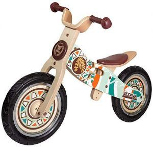 Indio en Bicicleta de Madera